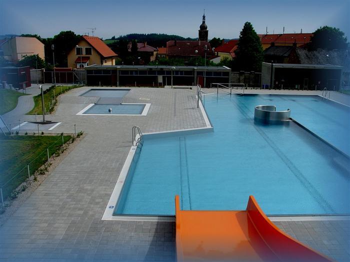 Fotografie koupaliště v Přibyslavi